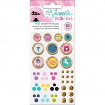 American Crafts Shimelle Glitter Girl Mixed Embellishment Pack 343664