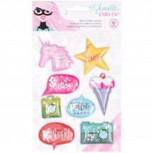 American Crafts Shimelle Glitter Girl Shaker Stickers 343666