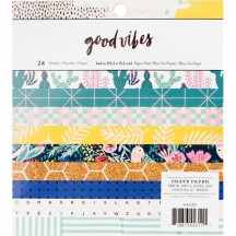 """Crate Paper Good Vibes 6""""x6"""" Paper Pad 36 Sheets 344311"""