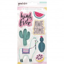 Crate Paper Good Vibes Embossed Puffy Accent Stickers 344321