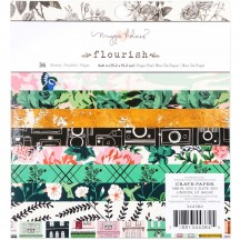 "Crate Paper Maggie Holmes Flourish 6""x6"" Paper Pad 36 Sheets 344384"