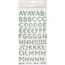 Crate Paper Maggie Holmes Flourish Printed Floral Chipboard Letter Thickers 344389