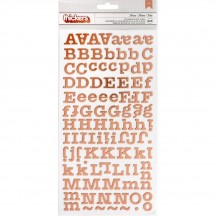 Crate Paper Maggie Holmes Flourish Rose Gold Foil Chipboard Letter Thickers 344390