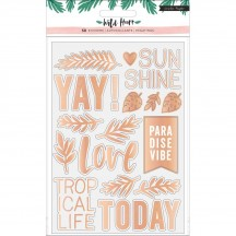 Crate Paper Wild Heart Clear Foil Stickers 344441