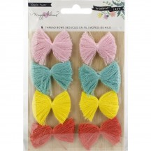 Crate Paper Maggie Holmes Willow Lane Adhesive Thread Bows 344470
