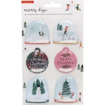 Crate Paper Merry Days Shaker Christmas Stickers 344512