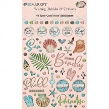 49 and Market Vintage Artistry Beached Wishing Bubbles & Trinkets Epoxy Coated Sticker Embellishments VTB-34482