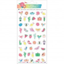 American Crafts Amy Tangerine Sunshine & Good Times Mini Icons Puffy Stickers 345712