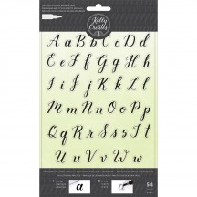 American Crafts Kelly Creates Acrylic Traceable Stamps Alphabet - 346392