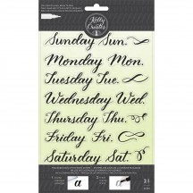 American Crafts Kelly Creates Acrylic Traceable Stamps Days Of The Week - 346395