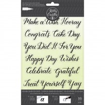 American Crafts Kelly Creates Acrylic Traceable Stamps Celebration - 346396