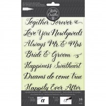 American Crafts Kelly Creates Acrylic Traceable Stamps Wedding - 346398