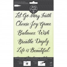 American Crafts Kelly Creates Acrylic Traceable Stamps Quotes 1 - 346400