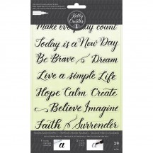 American Crafts Kelly Creates Acrylic Traceable Stamps Quotes 3 - 346414