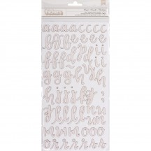 American Crafts One Canoe Two Twilight Chipboard Letter Thickers 346432