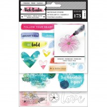 American Crafts Vicki Boutin Field Notes Watercolor Sticker Book 346539