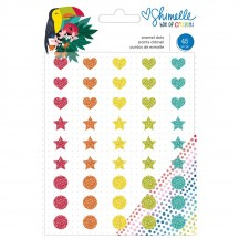 American Crafts Shimelle Box Of Crayons Glitter Enamel Dots 346617