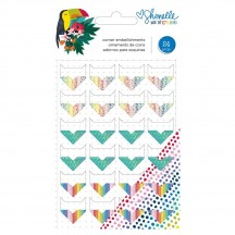 American Crafts Shimelle Box Of Crayons Corner Embellishments 346619