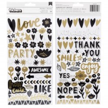 American Crafts Amy Tangerine Shine On Chipboard Phrase Thickers 348249