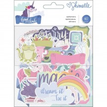 American Crafts Shimelle Head In The Clouds Ephemera Die-Cut Cardstock Embellishments 349465