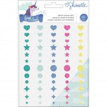 American Crafts Shimelle Head In The Clouds Glitter Enamel Dots 349466