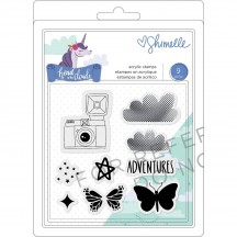 American Crafts Shimelle Head In The Clouds Clear Stamp Set 349476