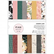 "Pink Paislee Auburn Lane 6""x8"" Card Making Paper Pad 24 Sheets 349646"
