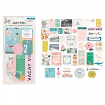 Crate Paper Maggie Holmes Sunny Days Ephemera Die-Cut Cardstock & Acetate Embellishments 350802