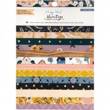 "Crate Paper Maggie Holmes Heritage 6""x8"" Gold Foil Paper Pad 24 sheets 350958"