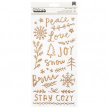 Crate Paper Snowflake Chill Foil Accent & Phrase Thickers 350978