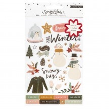 Crate Paper Snowflake Clear Sticker Book 3509483
