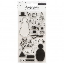 Crate Paper Snowflake Clear Acrylic Stamp Set 350990