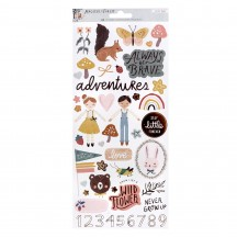 "Crate Paper Magical Forest 6""x12"" Accent Cardstock Stickers 351012"