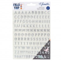 American Crafts Shimelle Field Trip Silver Puffy Alpha Stickers 352215