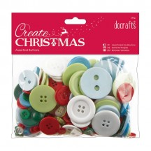 doCrafts Create Traditional Christmas 250g Assorted Buttons 354394