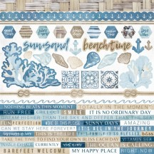 "Kaisercraft Beach Shack 12""x12"" Sticker Sheet SS356"