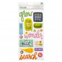 American Crafts Shimelle Never Grow Up Foam & Cardstock Phrase Thickers 356180