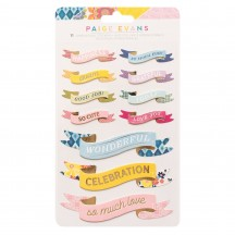 American Crafts Paige Evans Dimensional Banner Stickers 34004836