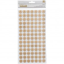 American Crafts Shimelle Dunbar Gold Foiled Thickers 368163
