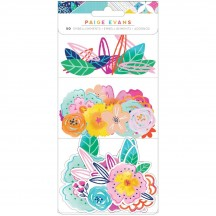 American Crafts Paige Evans Go the Scenic Route Floral Ephemera Die-Cut Embellishments 369769