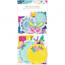American Crafts Paige Evans Go the Scenic Route Journal Ephemera Die-Cut Embellishments 369770