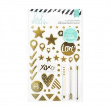 Heidi Swapp Hello Beautiful Gold Foil Chipboard Shape Stickers 369961