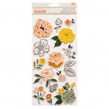 Crate Paper Fresh Bouquet Floral Accent Foam & Cardstock Thickers 373175