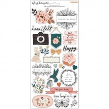 "Crate Paper Fresh Bouquet 6""x12"" Accent Cardstock Stickers 373177"