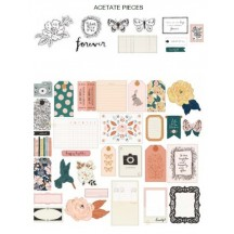 Crate Paper Fresh Bouquet Ephemera Die-Cut Cardstock & Acetate Embellishments 373178