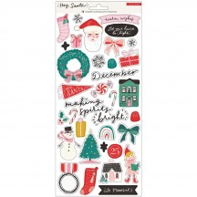 "Crate Paper Hey, Santa Christmas 6""x12"" Accent Cardstock Stickers 373211"