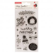 Crate Paper Hey, Santa Christmas Clear Stamps 373220