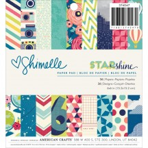 "American Crafts Shimelle Starshine 6""x6"" Paper Pad 374047 36 Sheets"