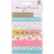 American Crafts Memory Planner Washi Tape Strips Book 374983