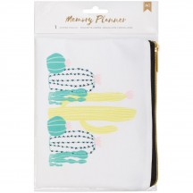 American Crafts Memory Planner Zipper Pouch 374988